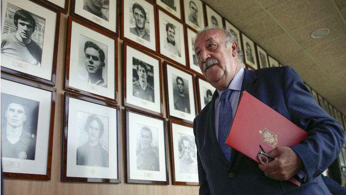 Del Bosque, antes de dar la lista para la Eurocopa. (EFE)