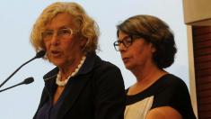 La alcaldesa Carmena con su concejala de Medio Ambiente. (Foto: Madrid)