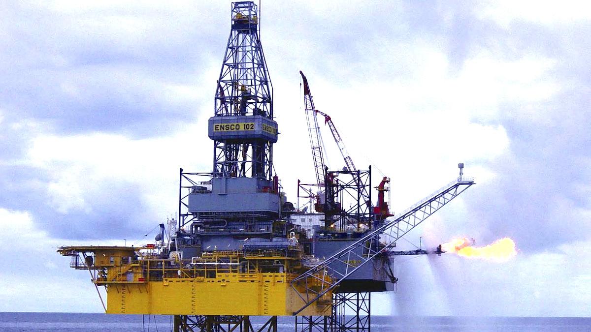 Plataforma de petróleo en el Mar del Norte.