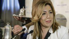 La presidenta de la Junta de Andalucía, Susana Díaz, en un desayuno en el Ritz. (Foto: EFE)