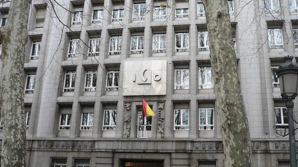 Fachada del edificio del Instituto de Crédito Oficial. (Foto: ICO)