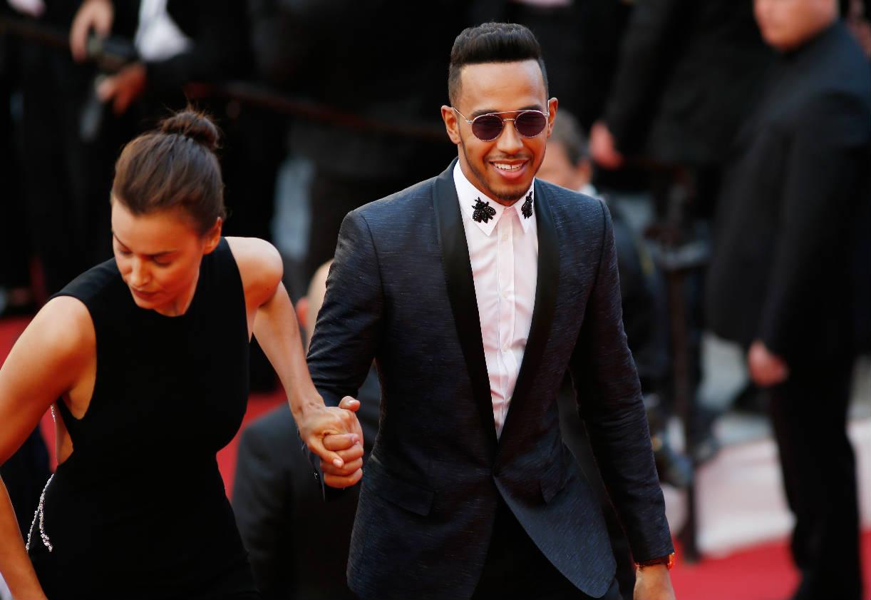 Irina Shayk y Lewis Hamilton juntos en Cannes 2016