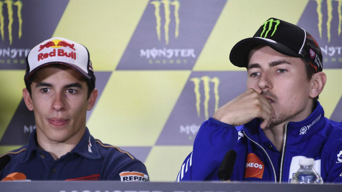 Lorenzo y Márquez tendrán que moverse por Mugello con guardaespaldas. (Getty).