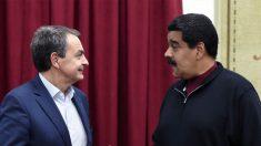 José Luis Rodríguez Zapatero y Nicolás Maduro. (Foto: AFP)