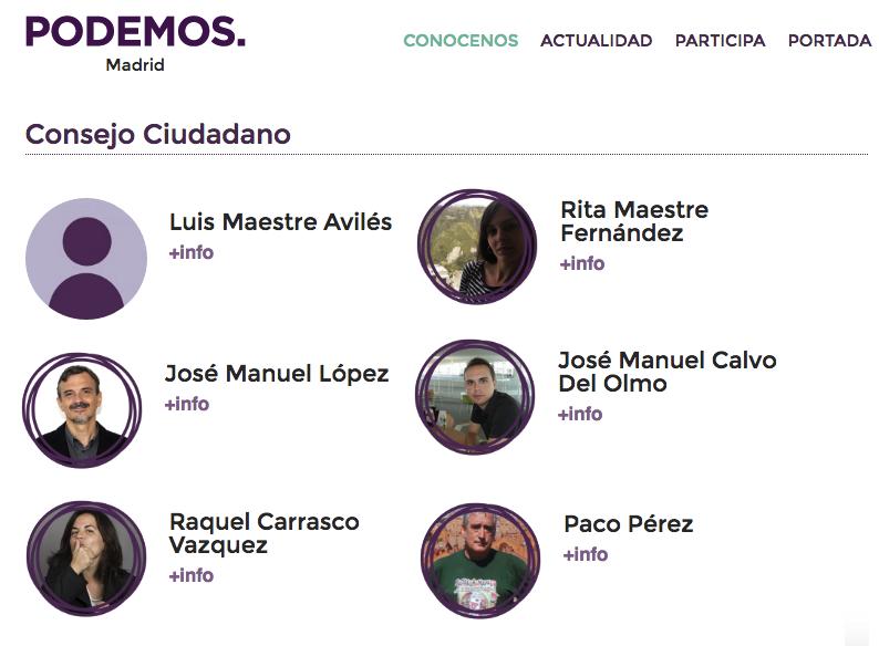 Parte de los integrantes del Consejo Ciudadanos de Podemos Madrid Ciudad. (Clic para ampliar)