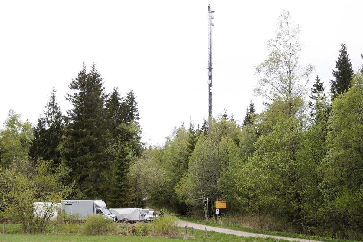 Torre de comunicaciones dañada en la localidad de Boras, en Suecia (Foto: Reuters)