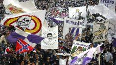 Los Ultra Sur durante un partido del Real Madrid. (Getty)
