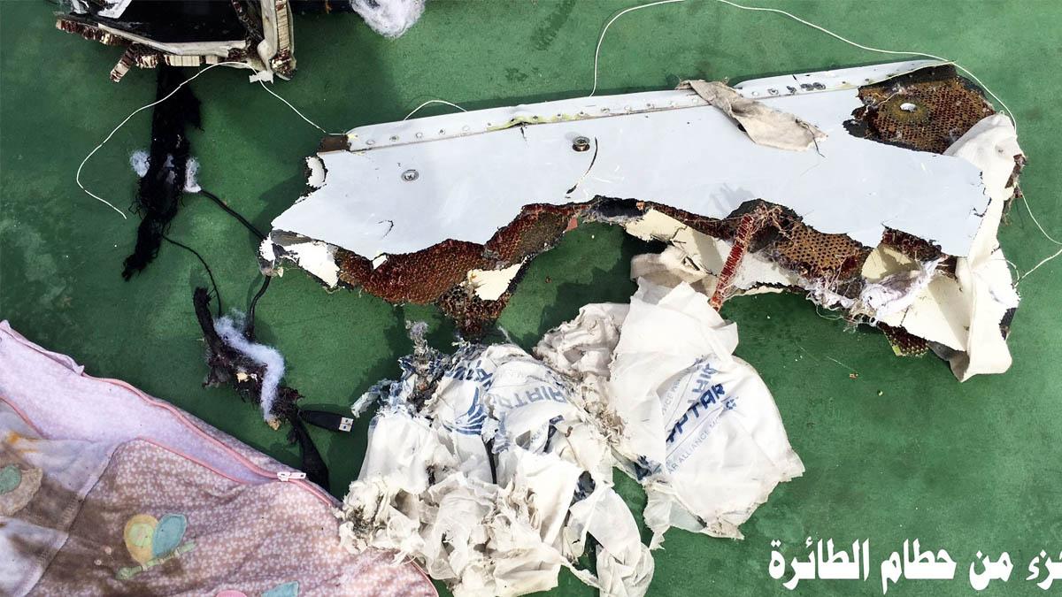 Restos del avión de Egyptair (Foto: Reuters)