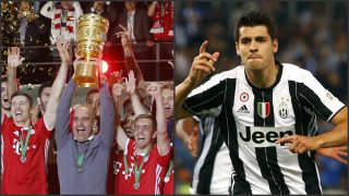 Guardiola levanta la Copa de Alemania y Morata dio la de Italia a la Juve. (Reuters)