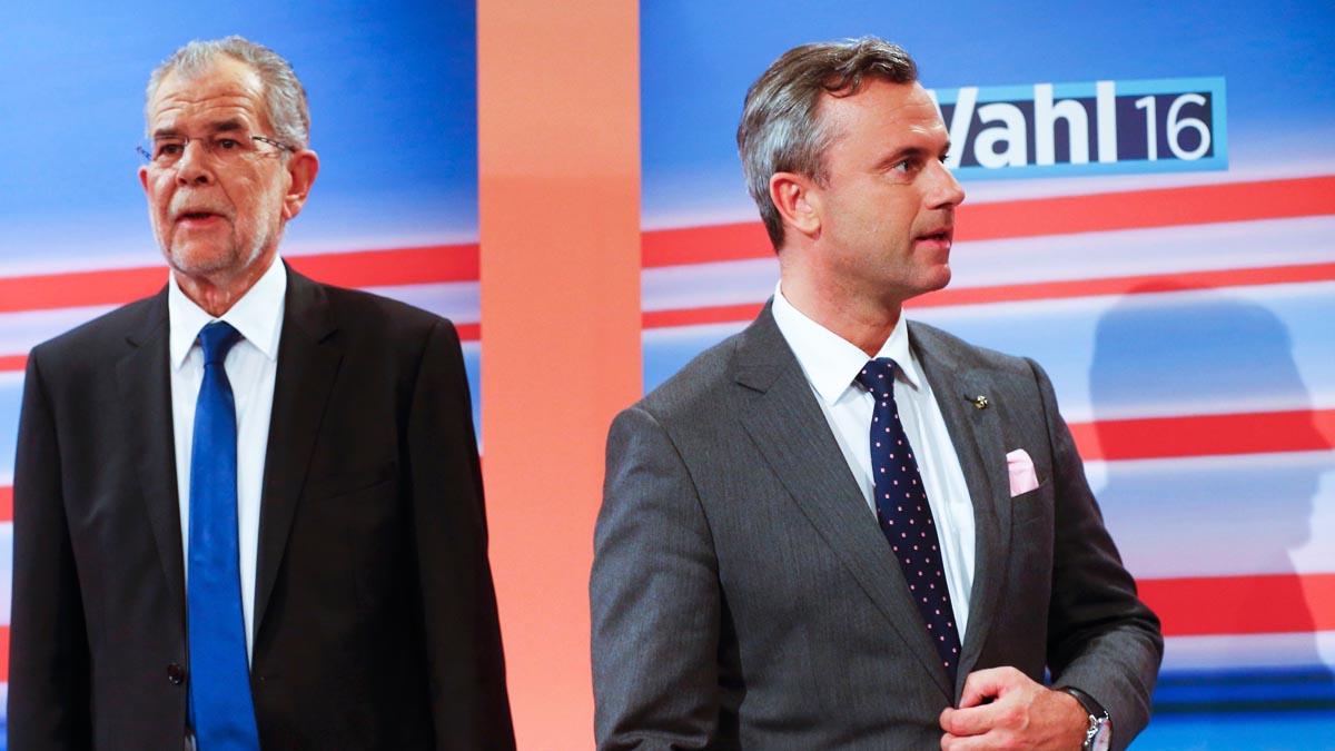 Norbert Hofer y Alexander Van der Bellen, en empate técnico (Foto: Reuters)