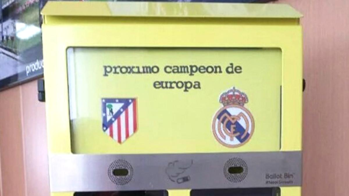 Los ceniceros de Carmena para la final de la Champions.