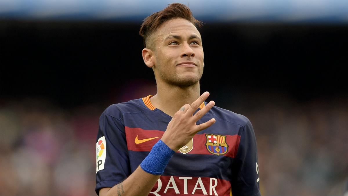 Neymar, en un partido de Liga en el Camp Nou. (AFP)