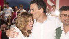 Pedro Sánchez y Susana Díaz. (Foto: EFE)
