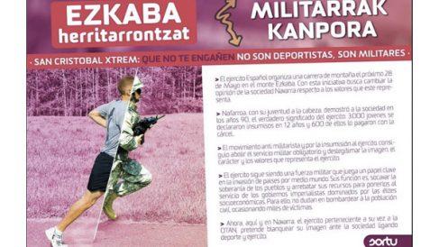 Cartel de Sortu en el que piden boicotear la San Cristóbal Xtrem.