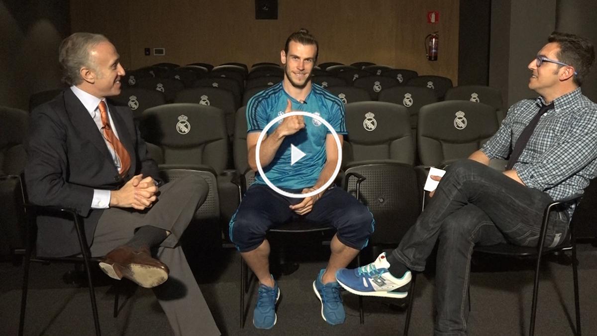 Gareth Bale, en un momento de la entrevista con OKDIARIO.