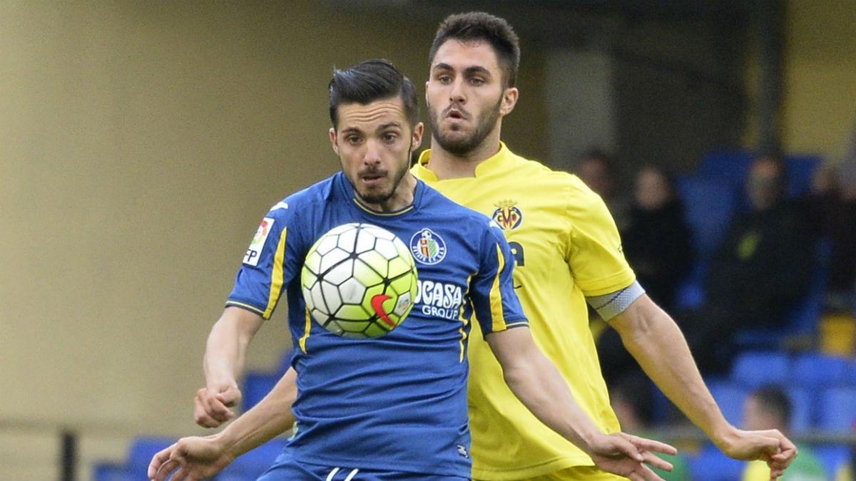 Pablo Sarabia, en un partido contra el Villarreal. (AFP)