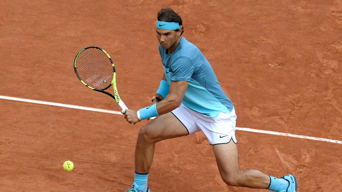 Rafa Nadal doblegó a Sam Groth en tres sets. (AFP)