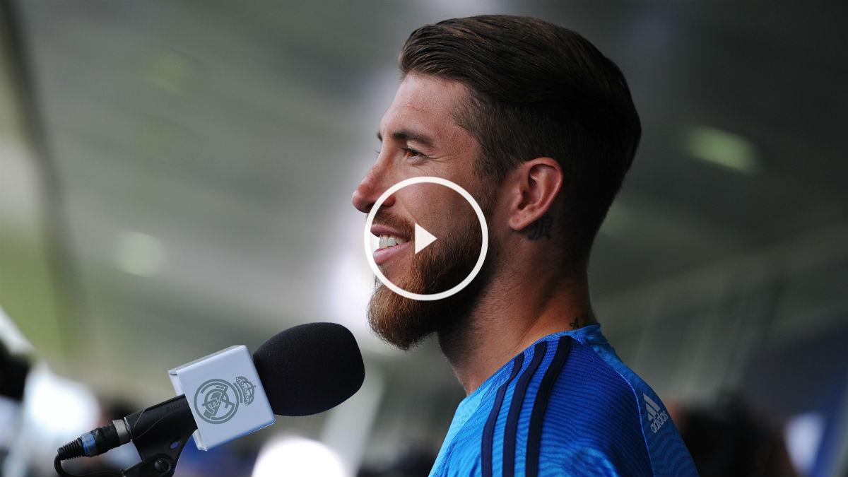 Sergio Ramos atendió a los medios. (Getty)