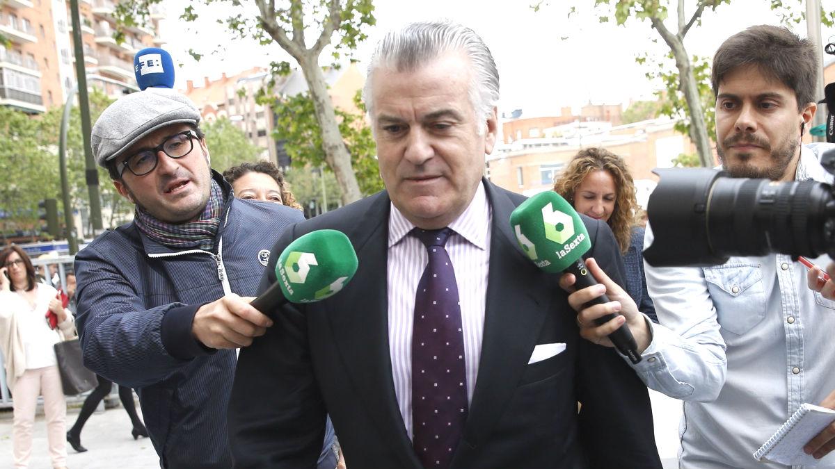 El ex tesorero del PP Luis Bárcenas, en la Audiencia Nacional. (Foto: EFE)