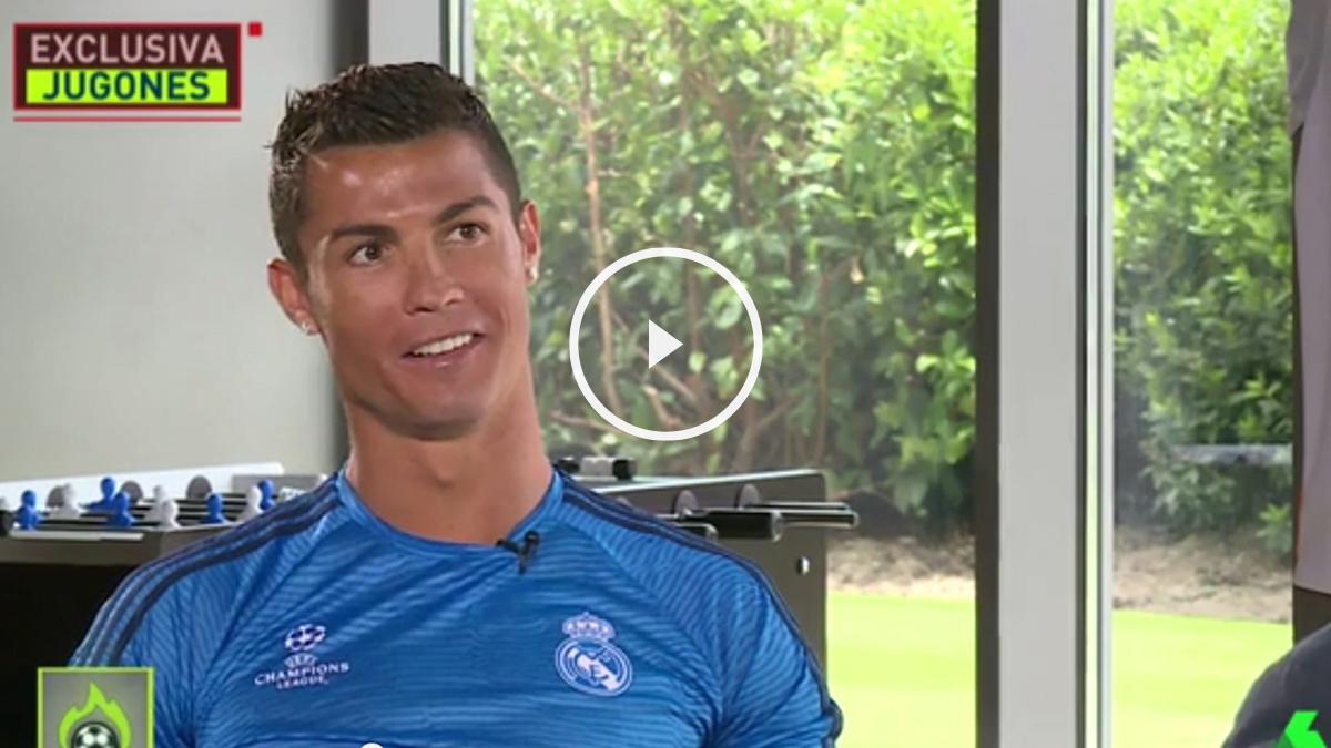 Cristiano Ronaldo confirma la exclusiva de OKDIARIO a Josep Pedrerol.