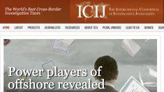 Web de ICIJ.
