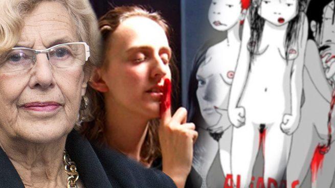 Carmena acoge en el Ayuntamiento una exposición presidida por menstruaciones