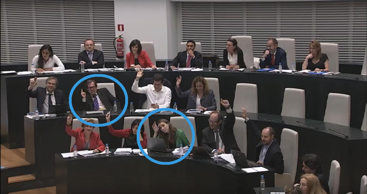 Varios concejales del PSOE han dejado notar sus dudas a la hora de la votación final.