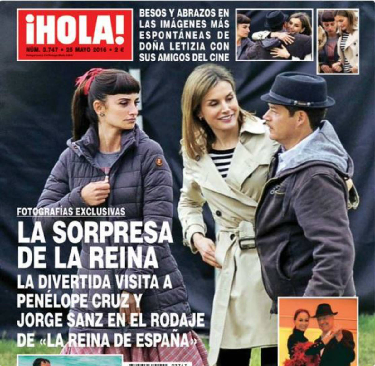 Doña Letizia visito el rodaje de «La reina de España» (Hola -Twitter)