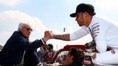 Ecclestone y Hamilton, personaje y piloto más influyentes de la Fórmula 1 actual. (Getty)