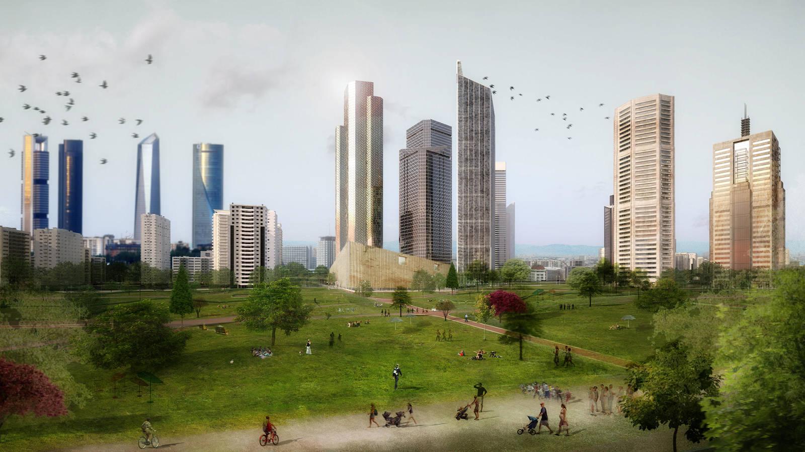 Recreación de Chamartín finalizado el proyecto.