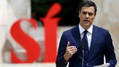 Pedro Sánchez presenta en campaña sus líneas rojas en un acto en Madrid. (Foto: EFE)