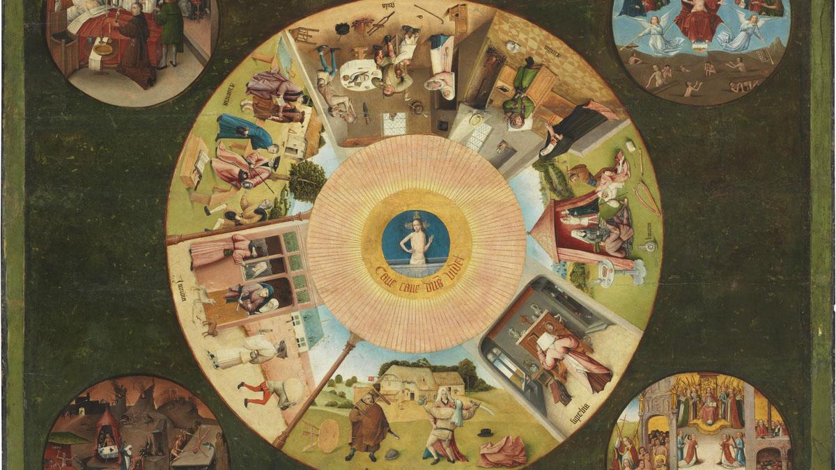 La mesa de los pecados capitales, de El Bosco. (Foto: Museo del Prado)