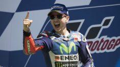 Jorge Lorenzo celebra una victoria durante su etapa en Yamaha. (Getty)