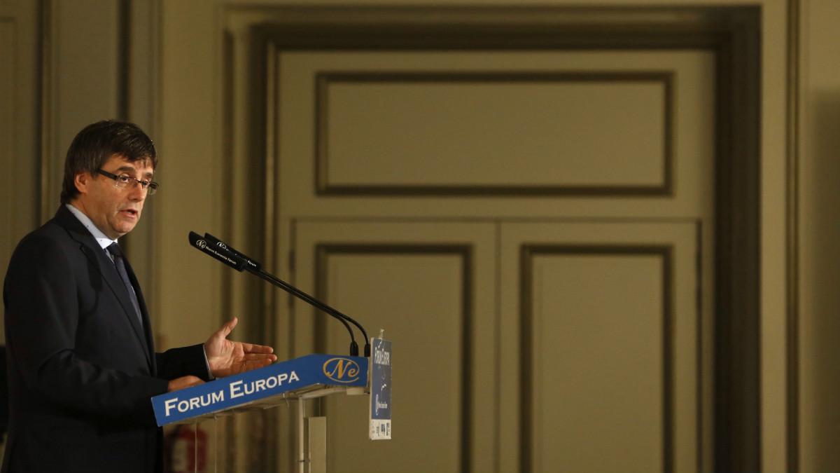 El presidente de la Generalitat, Carles Puigdemont. (Foto:EFE)