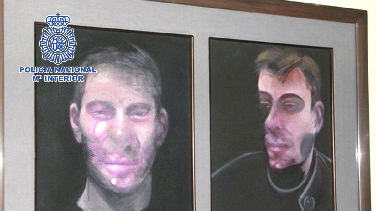Imagen de uno e los cuadros robados (Foto: Efe).