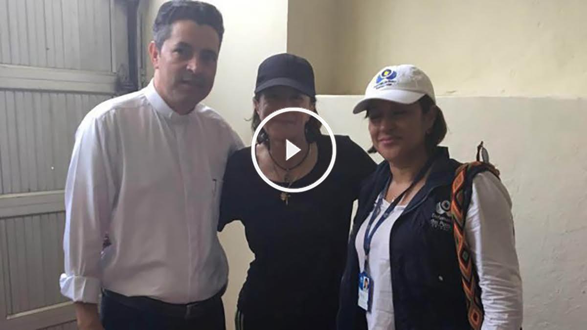 Salud Hernández Mora tras su liberación.