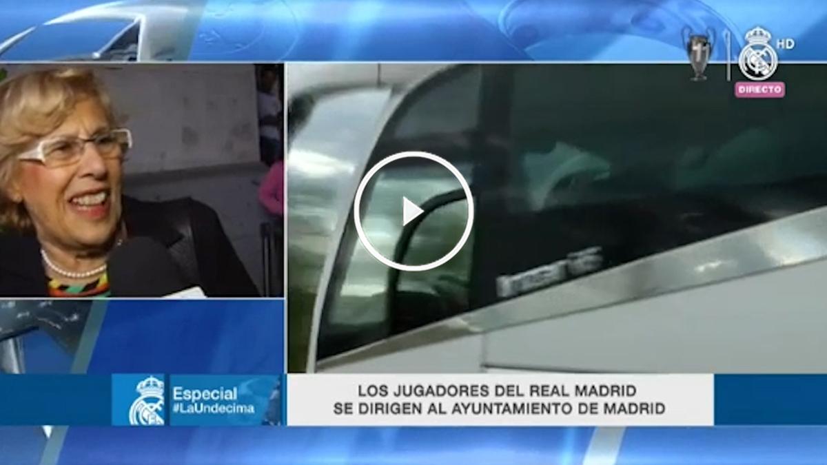Manuela Carmena habla para el Real Madrid Televisión.