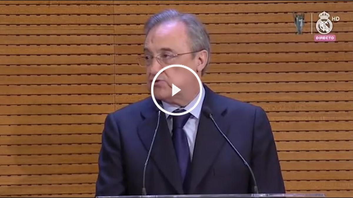 Florentino Pérez dio un discurso ejemplar ante Carmena.