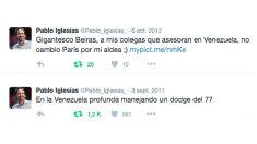 Tuits escritos por Pablo Iglesias en 2011 y 2012, antes de fundar Podemos