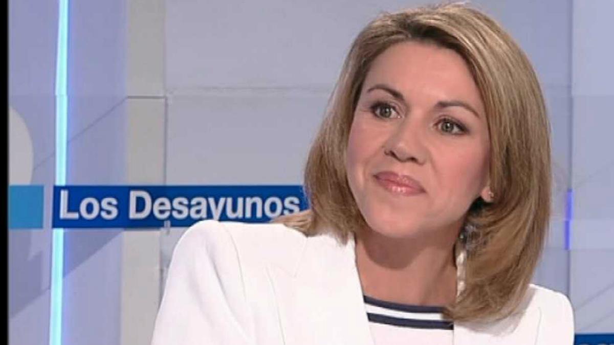 Maria José de Cospedal en el programa matinal de la cadena de televisión pública TVE.