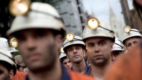 Mineros durante una manifestación en Oviedo (Foto: GETTY).