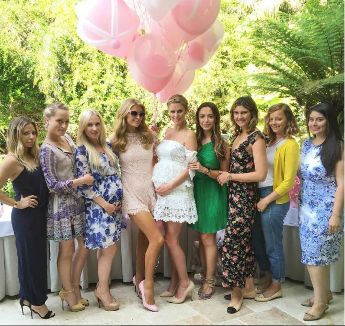 Paris Hilton en el baby shower de su hermana (Instagram)