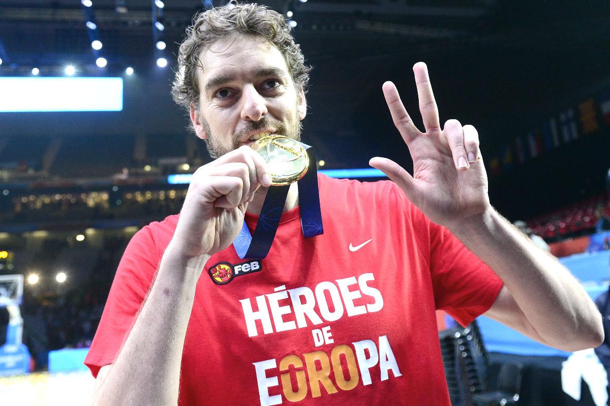 Pau Gasol fue clave para que España se colgara el oro en el anterior Eurobasket. (Foto: AFP)