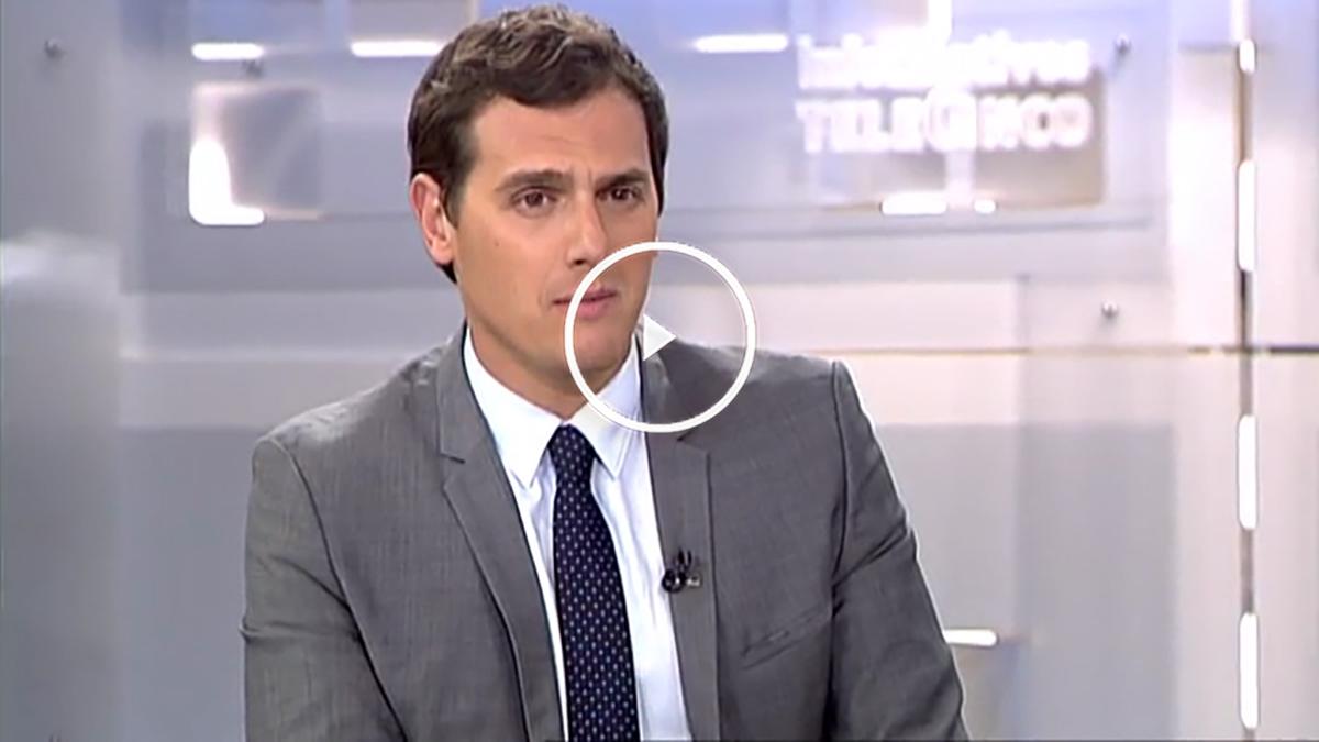 Albert Rivera durante su entrevista en Telecinco.