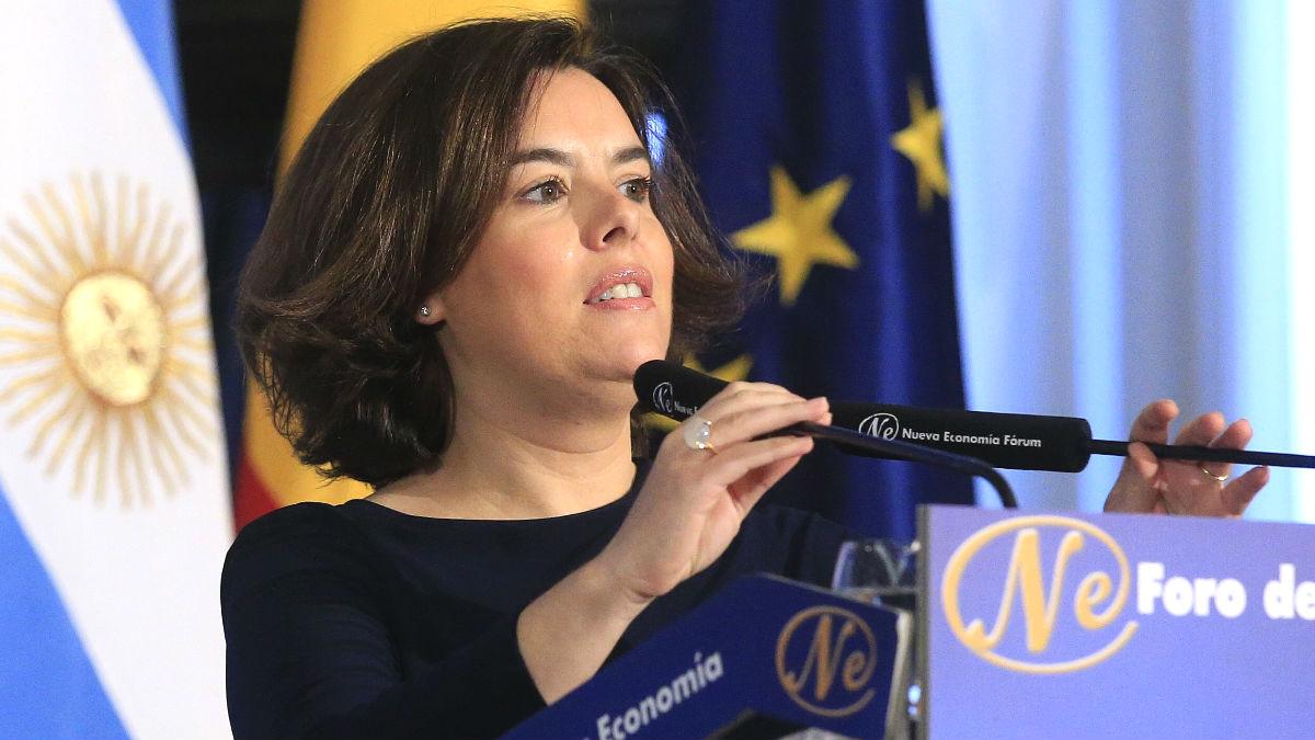 La vicepresidenta del Gobierno, Soraya Sáenz de Santamaría, en una reciente imagen (Foto: Efe).
