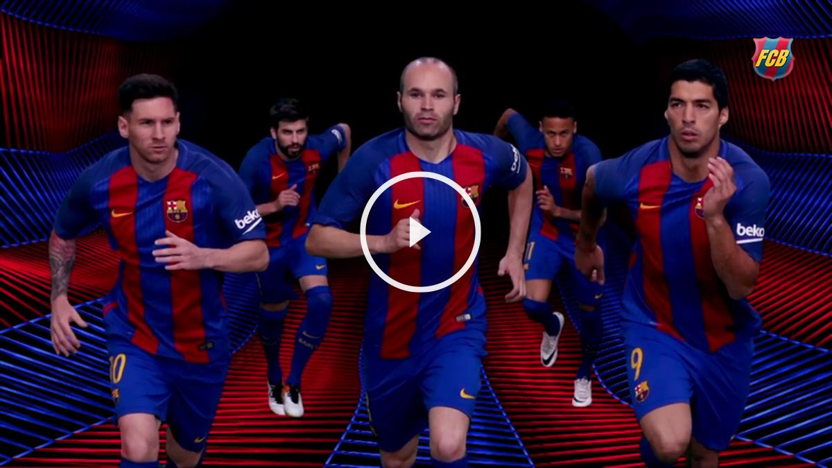 Vídeo de presentación de la camiseta del Barcelona. (fcbarcelona.com)