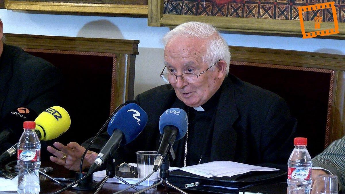 El cardenal Cañizares durante una rueda de prensa.