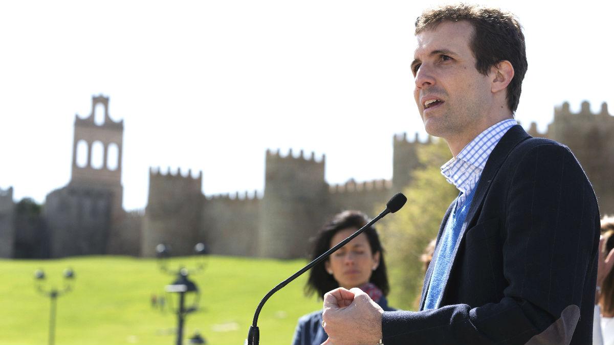 El vicesecretario de Comunicación del PP y número uno al Congreso de esta formación por la provincia de Ávila, Pablo Casado (Foto: Efe)