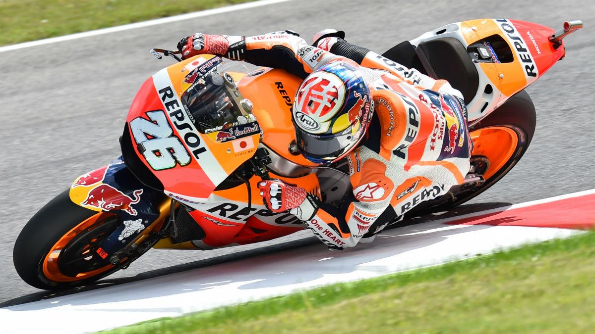 Dani Pedrosa, en una calificación con la Honda. (AFP)