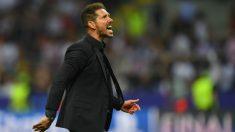 Simeone durante el partido de la final de la Champions